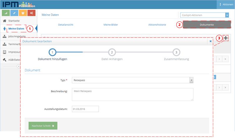 Dokument-hochladen-Promotersystem